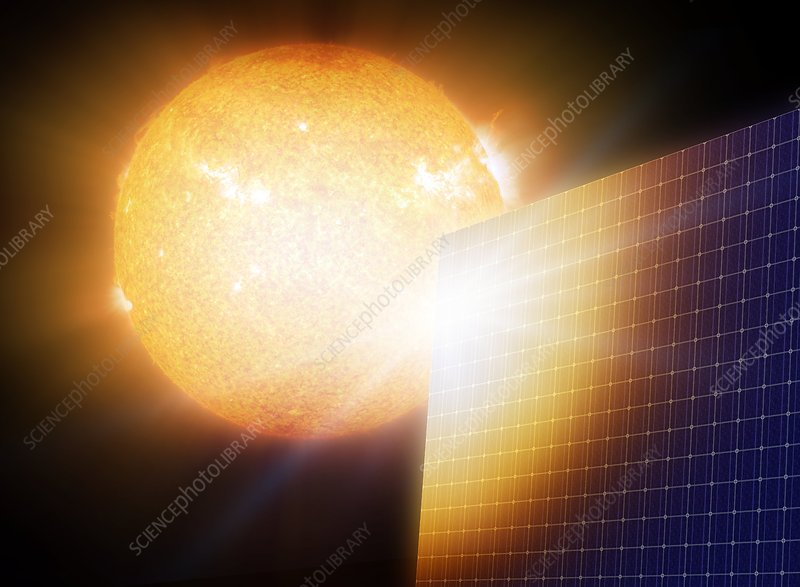 Solar power, conceptual artwork