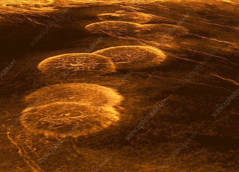 Venus, synthetic aperture radar map