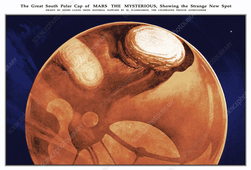 Schiaparelli's Mars, historical artwork