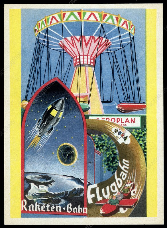 Viennese fun fair, historical post card