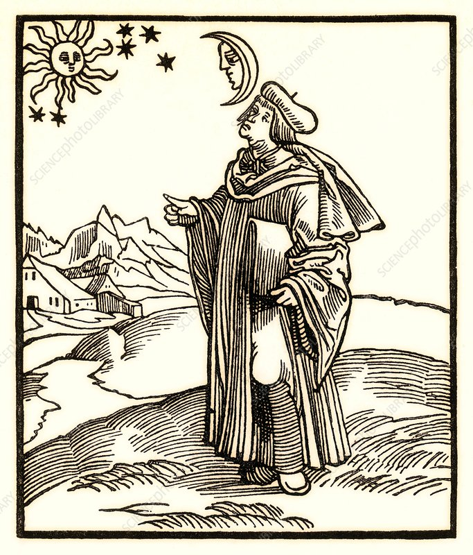 Early 17th Century astrologer, artwork