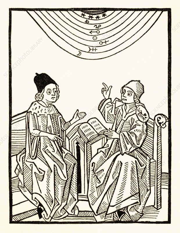 King and astrologer, historical artwork