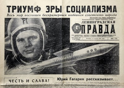 Soviet newspaper article on Gagarin