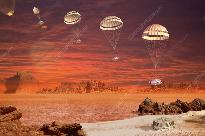 Huygens probe landing on Titan, artwork