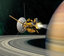 Cassini-Huygens probe at Saturn, artwork