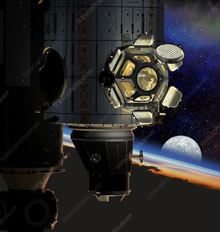 ISS viewing portal, artwork