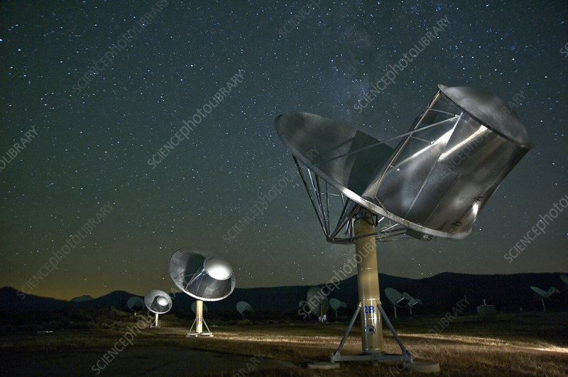 Allen Telescope Array at night
