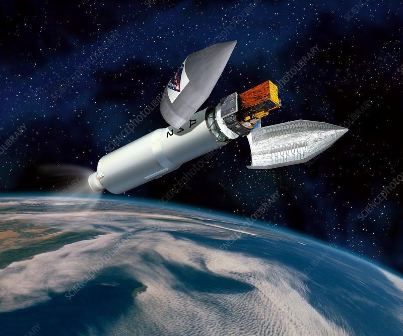 INTEGRAL satellite launch, artwork