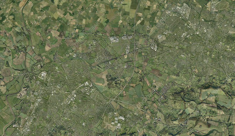 Gloucester and Cheltenham, aerial view