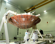 Huygens heat shield preparations