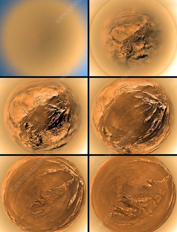 Surface of Titan, Huygens images