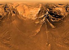 Surface of Titan, Huygens image