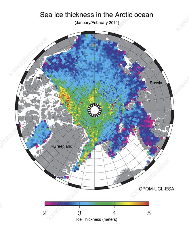 Arctic sea ice maximum, 2011