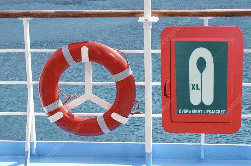 Life-saving equipment on a ship