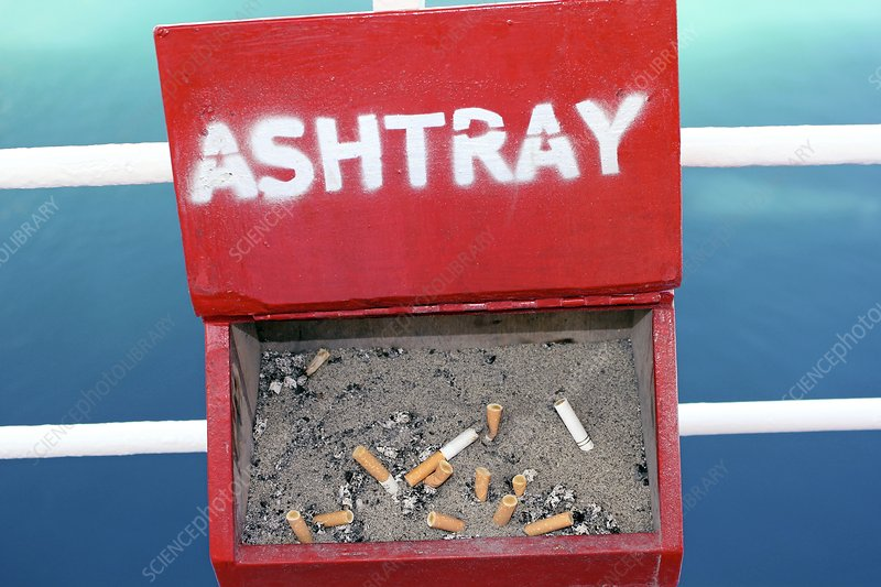 Ashtray on a ship