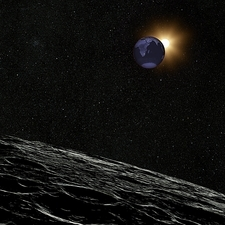 Lunar eclipse seen from the Moon, 2011