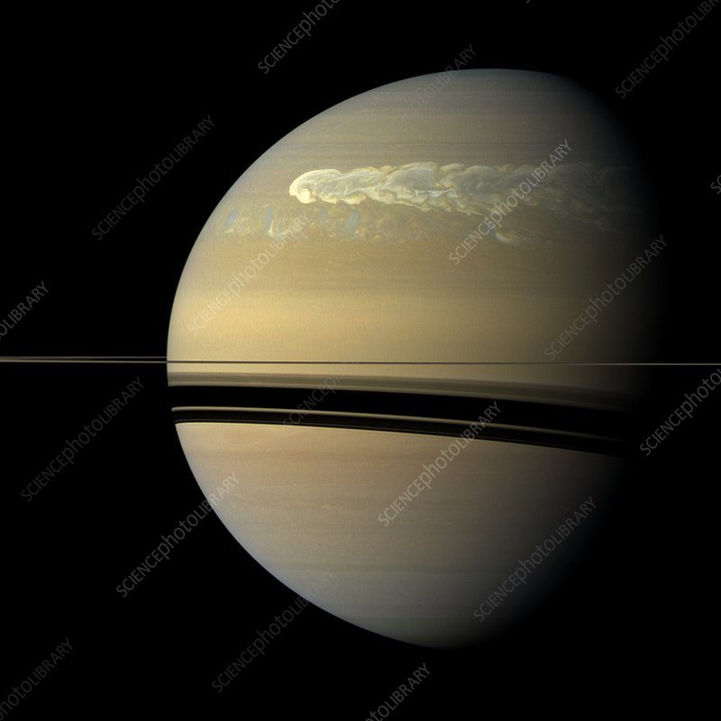 Storm on Saturn, Cassini image