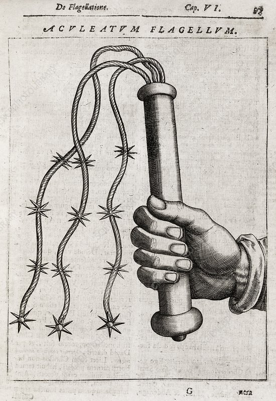 Flagellation whip, 17th century