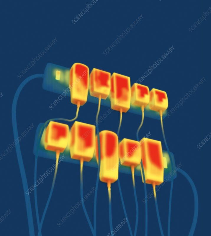Thermogram of AC converters, artwork