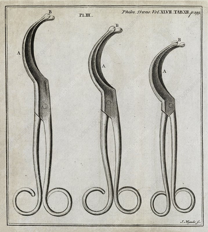 Medical forceps, 18th century
