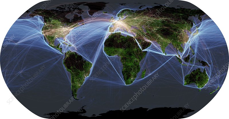 Global transportation map