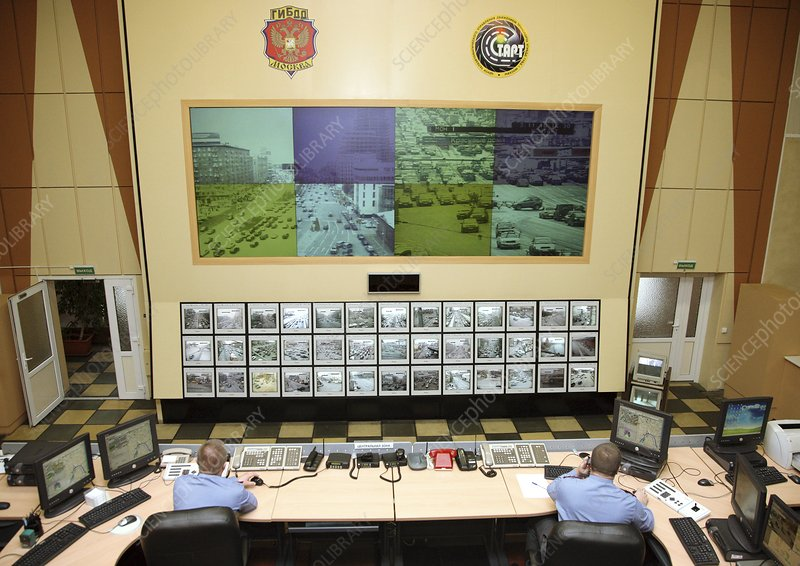 Traffic police control room, Russia