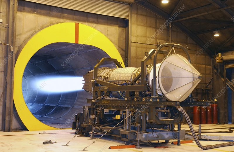 F-119 engine during testing