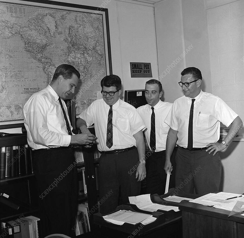 Smallpox health officials, 1966