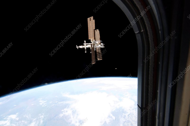 ISS from Atlantis, 2011