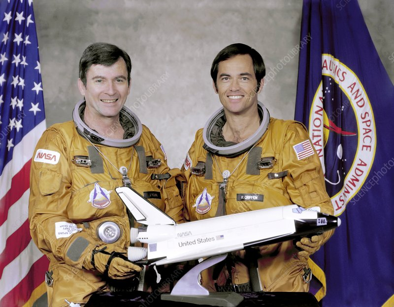 First Space Shuttle crew members
