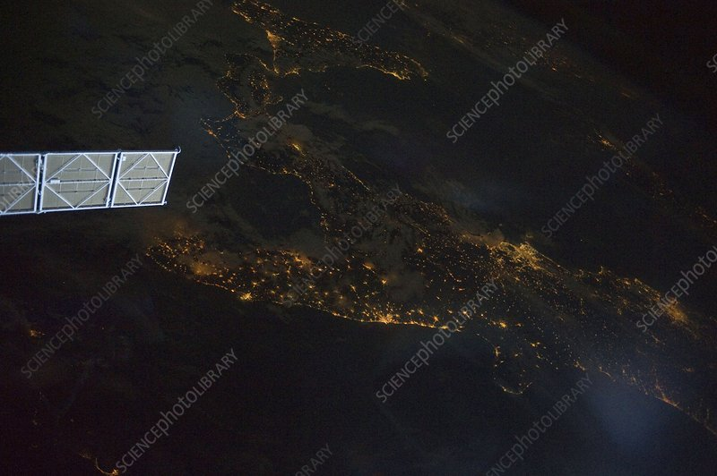 Italy from the ISS, 2011