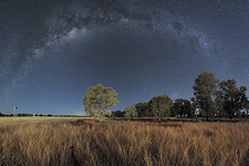 Milky Way over Parkes Observatory