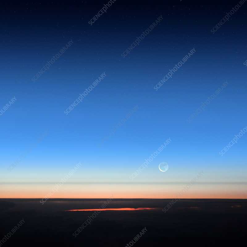 Dawn seen from an aeroplane