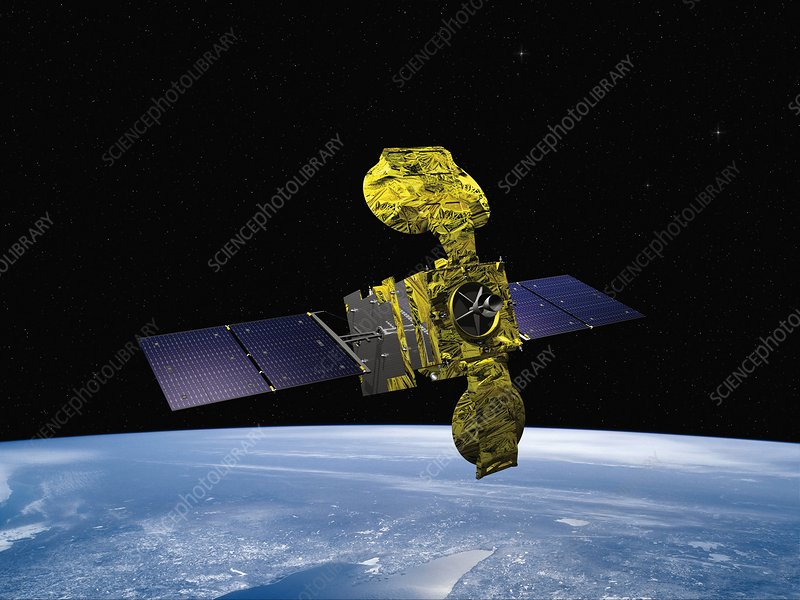 Hylas-1 satellite in orbit, artwork