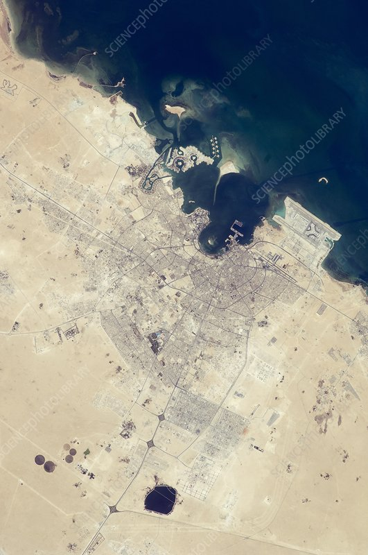 Doha, Qatar, from space