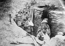 First World War British trenches