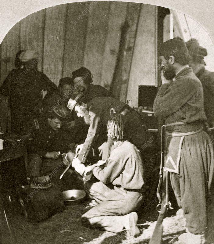 Military field hospital, US Civil War