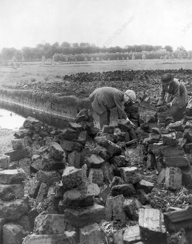 Irish peat production, 1880-1930