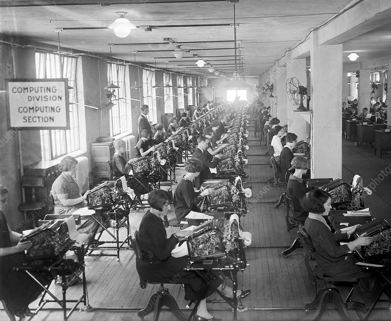 Early calculating machines, 1924