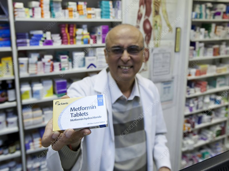 Pharmacist holds Metformin tablets