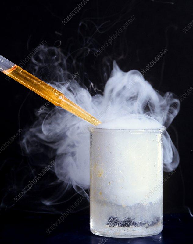 Amine-acid chloride reaction - Stock Image - C011/4536 - Science