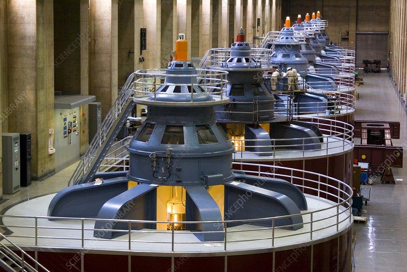 Hoover Dam generator hall