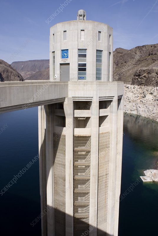 Intake tower in Lake Mead at Hoover Dam