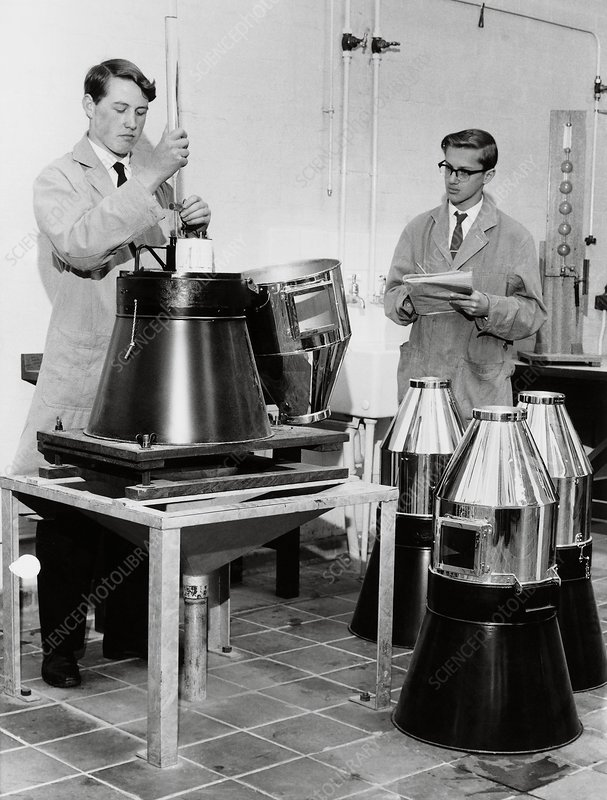 Rain gauge testing, 1962