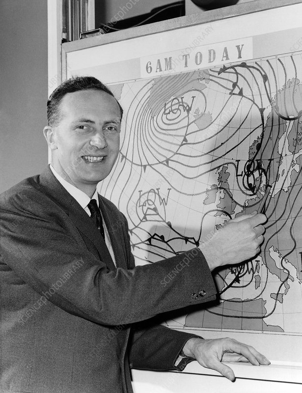 Met Office forecaster, 1960
