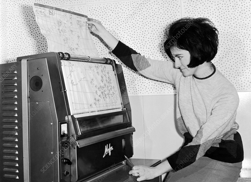 Weather chart transmission, 1965