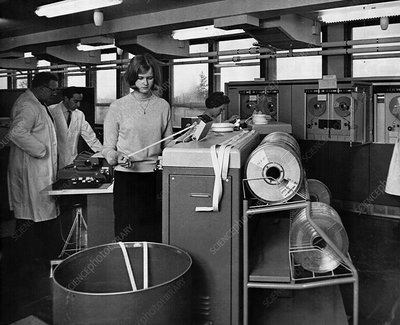 Met Office computer room, 1965