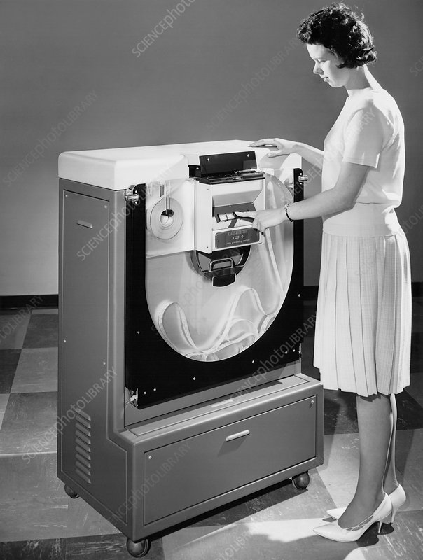 Computer tape reader, 1960s