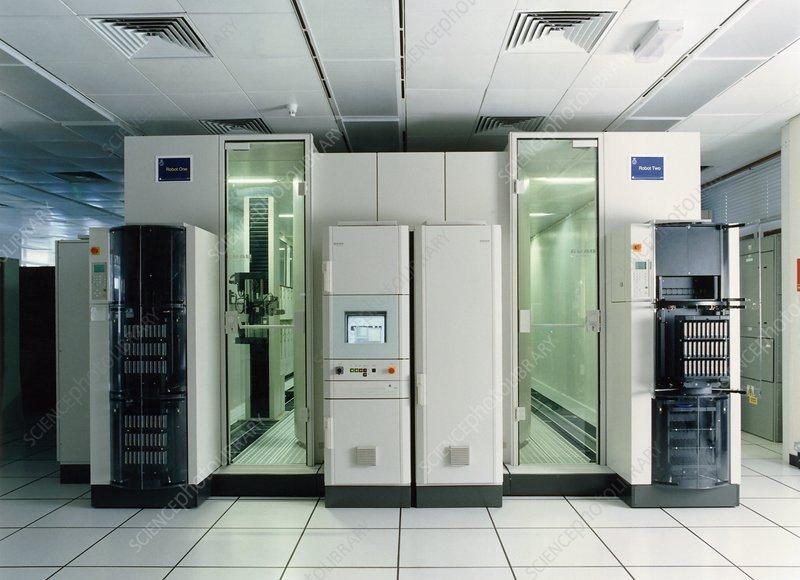 Met Office robotic tape library, 1990s