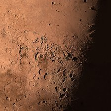 Mars's Gale Crater from space